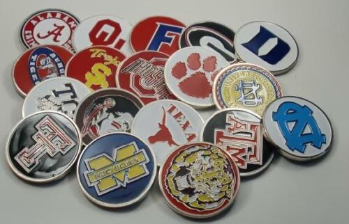 NCAA Alabama Crimson Tide Poker Chip Card Guard Challenge Coin Golf Marker