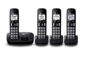 Cordless Phone system with digital answering machine + 4 handset