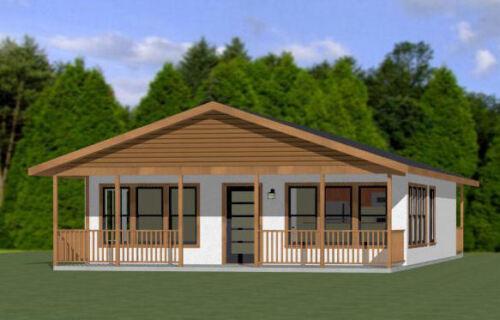 28x36 House -- 2 Bedroom 1 Bath -- 1,008 sq ft -- PDF Floor Plan -- Model 2C