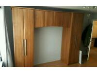 Starplan solid maple wood wardrobe surround set for double bed