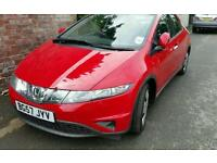 Honda civic red very good condition