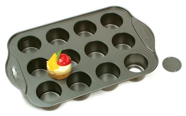 12 Cups Individual Mini Cheesecake Cake Pan Tin Loose Base