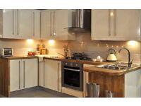 10 piece plus White & cream gloss kitchen units