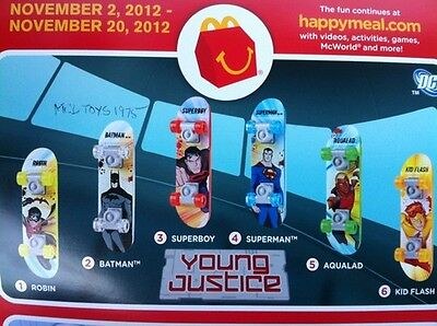 Mcdonald's 2012 young Justice  Set