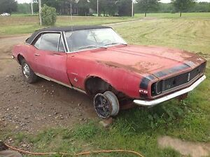 Wanted first gen Firebird or Camaro donor parts car - 67 68 69