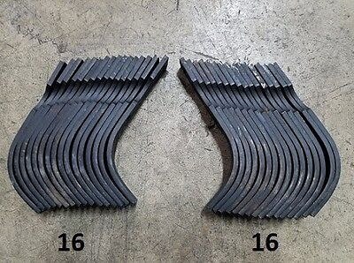 16 Each LH&RH Replacement Tines for Bush Hog RTS/RTL Tiller Part# 4454 and 64452