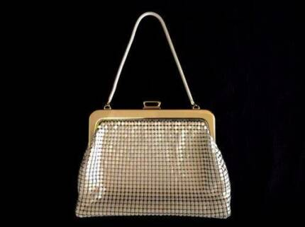Vintage Glomesh Style 77 Bone handbag 1981 box receipt & tag