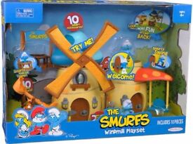 Smurfs play set with figures as new