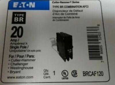 6 X Eaton Cutler Hammer Brcaf120 Brn120af Arc Fault 20 Amp Breaker Type Br