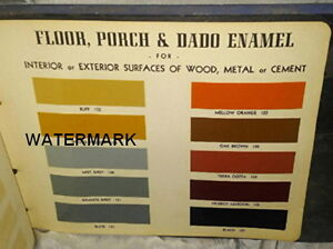 CIL PAINTS COLOUR STYLING BK, 155 COLOUR SAMPLES, c1950's - 1960
