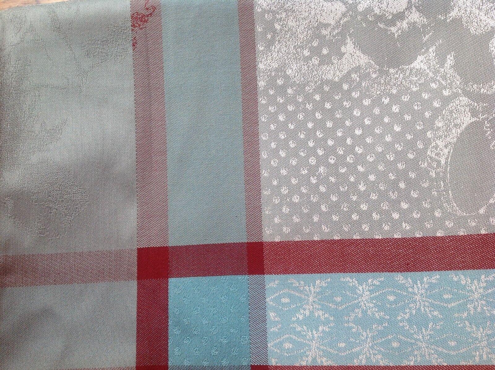 Garnier-Thiebaut Tablecloth Amoursl Brume 69 X 69 Stain Resi