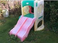 climbing frame double slide