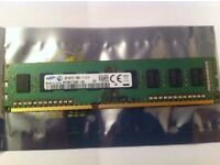 Samsung 2GB PC3-12800U 1600MHz DIMM, M378B5773QB0-CK0 DDR3 RAM FOR DESKTOP PC