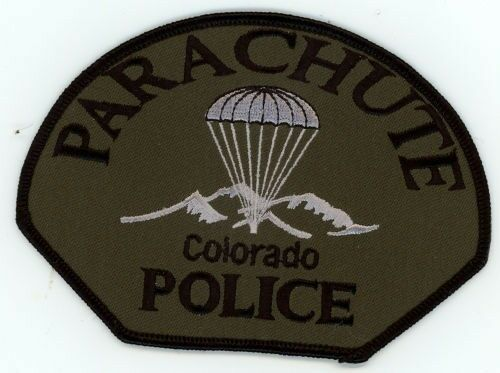 PARACHUTE COLORADO CO POLICE SUBDUED SWAT TACTICAL PATCH SHERIFF