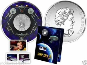 2016 Canada Star Trek 25-Cent Coin and Stamp Set
