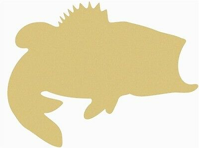 Bass Cutout Unfinished Wood Fishing Door Hanger MDF Shape Canvas Style 1