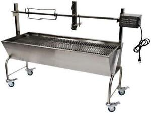GrillPro 35051 Deluxe Stainless-Steel Spit Roaster and Charco