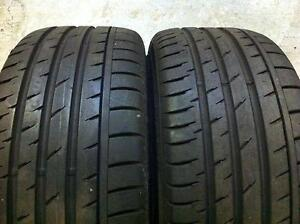 Set of 2 255/40/18 Bridgestone potenza 70% tread