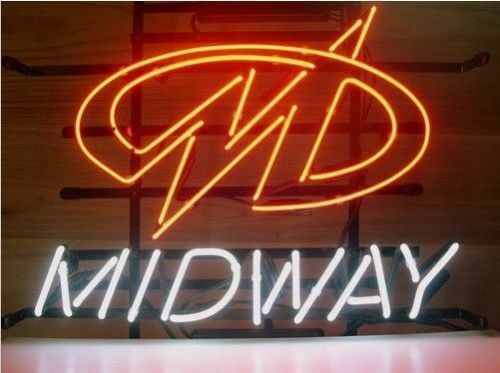 "Midway 17""x14"" Neon Sign Lamp Light Beer Bar With Dimmer"