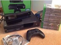Boxed Microsoft Xbox One 500GB Black Console with Kinect, accessories and games