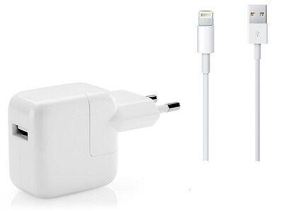 Apple MD818ZM/A Lightning + A1401 Power Adapter 12Watt Ladegerät Ladekabel NEU