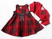 Red Christmas Dress 3T