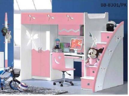 Girl's Pink Bunk Bed for Sell
