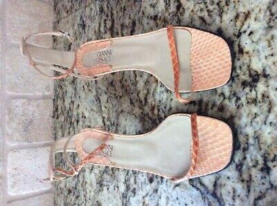 Gianni Versace Peach Python Donna Whips Strap Sandals Size 36.5=6.5US