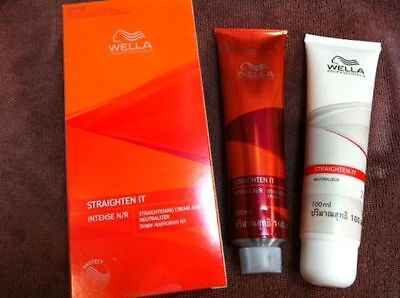 WELLA STRAIGHTEN IT INTENSE N / R STRAIGHTENING CREAM AND NEUTRALIZER