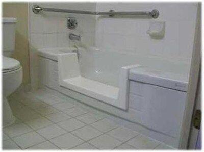 Walk-In Bath To Shower Easy Step Thru Insert DIY Conversion Kit Senior Safety