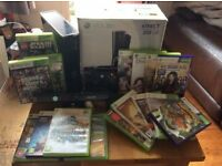 box 360s kinect special edition & 17 games