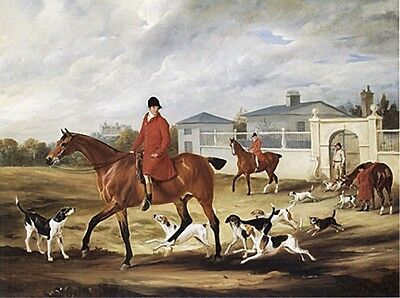 (FOXHOUND FOX HUNTING HORSE DOG ART PRINT BELVOIR HOUNDS CASTLE KENNEL (Giant))