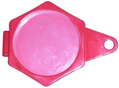 Tax Disc Holder Hexagon Plastic Folder Over Red