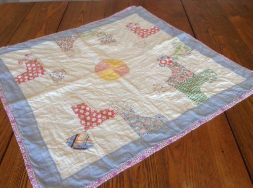 Vintage Baby Quilt Ebay