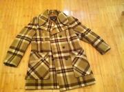 Vintage Plaid Wool Coat
