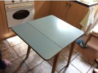 1960s sky blue formica table and chairs