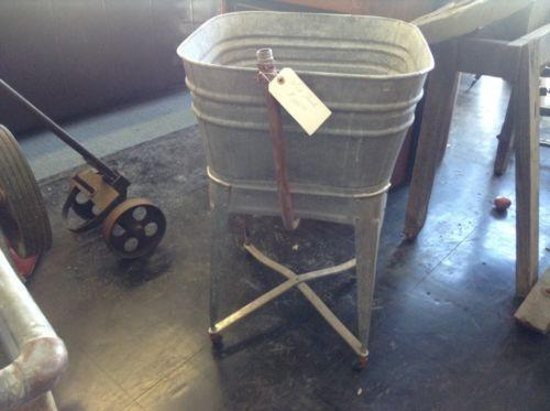 Vintage Galvanized Wash Tub | eBay