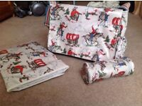 Cath Kidston cowboys nappy changing bag, including changing mat and bottle warmer.