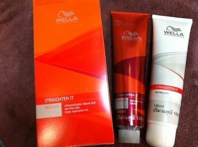 WELLA STRAIGHTEN IT MILD C / S STRAIGHTENING CREAM AND NEUTRALIZER