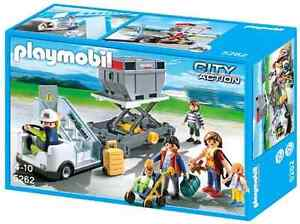 PLAYMOBIL Aircraft Stairs with Passengers and Cargo
