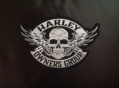 Harley Owners Group  Hog  Large  Skull Patch  Ships International