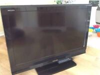"""37"""" TOSHIBA FREEVIEW X3 HDMI PC SCARTS STAND&REMOTE"""