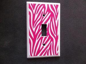 Pink Zebra Print Decor