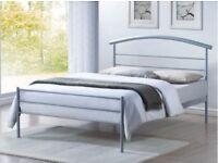 4FT6 DOUBLE BED BRENNINGTON METAL & WOOD FRAME TIME LIVING