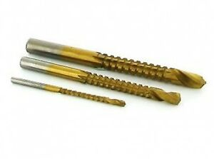New-Drill-Bit-Saw-3-Piece-Set-3mm-6mm-8mm-Hole-File-Reamer-Router-U26