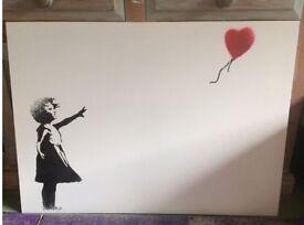 Banksy canvas print wall art.