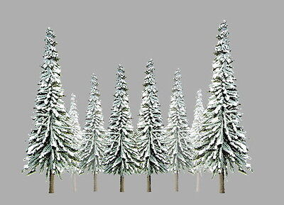 "JTT SCENERY 92005 SUPER SCENIC SNOW PINE TREES 1"" to 2""  Z-SCALE 55/PK  JTT92005"