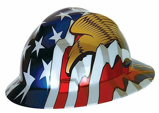 MSA 10071159 Full Brim V-Gard Hard Hat W/Stars & Stripes & Eagles Freedom Series Business & Industrial