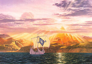 The-Shores-of-Valinor-Tolkien-themed-Print-numbered-signed-by-Ted-Nasmith