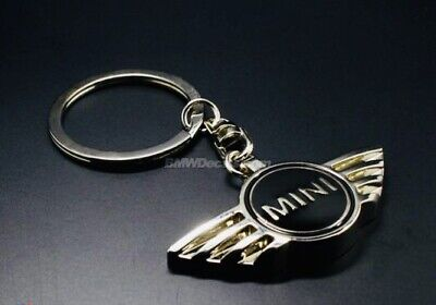MINI COOPER S ONE METAL CHROME KEYRING BLACK BMW R56 R58 R59 BUY 2 GET 1 FREE for sale  Shipping to Ireland